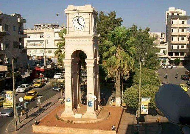 مدينة إدلب السورية سنة 2013 وذلك قبل احتلالها من قبل تنظيم القاعدة الإرهابي