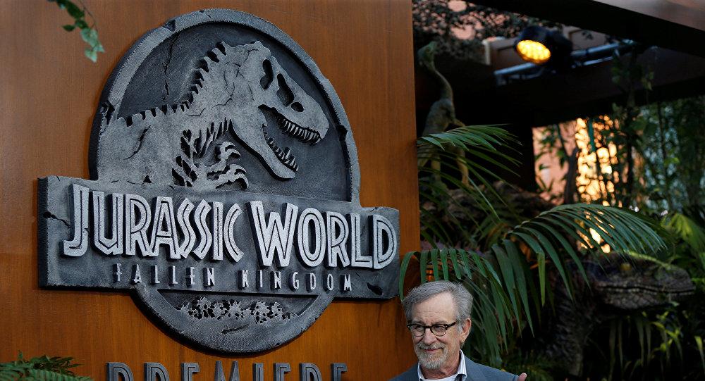 المخرج الأمريكي ستيفن سبيلبرغ في العرض الخاص لفيلم Jurassic World: Fallen Kingdom، 12 يونيو/حزيران 2018
