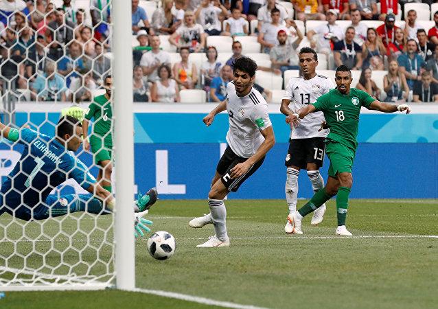 مباراة مصر والسعودية في بطولة كأس العالم في روسيا، 25 يونيو/حزيران 2018