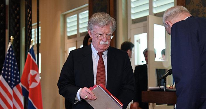 مستشار الرئيس الأمريكي لشؤون الأمن القومي جون بولتون