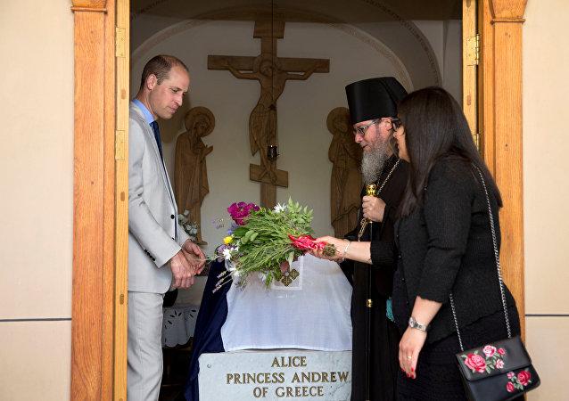 الأمير وليام يزور قبر جدته الكبرى الأميرة أليس في القدس
