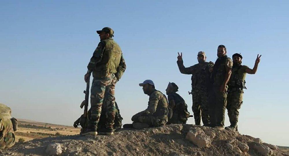 مجموعة المقاتلين السوريين الذين تلاعبو بالقناص - الجيش السوري