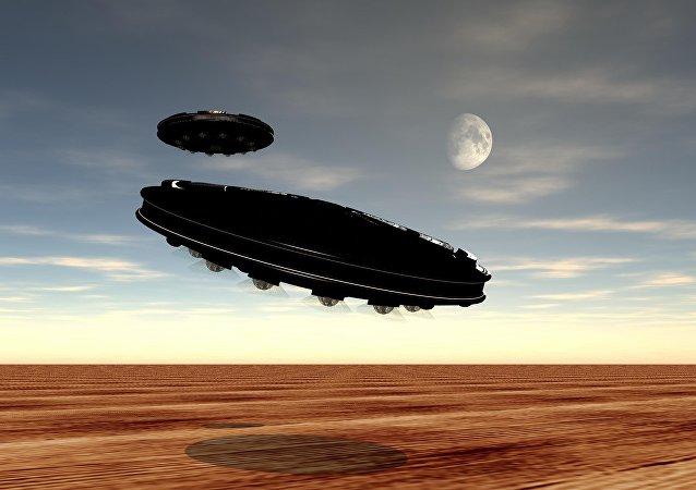 سفينتان فضائيتان تظهران في سماء نيويورك