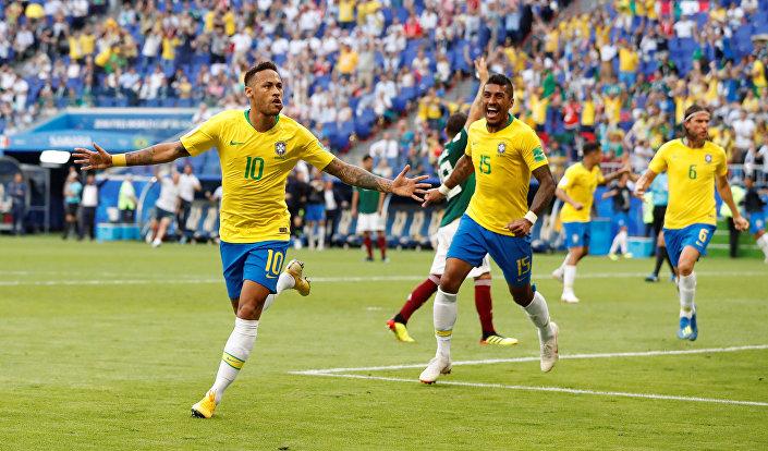 مباراة البرازيل والمكسيك - نيمار