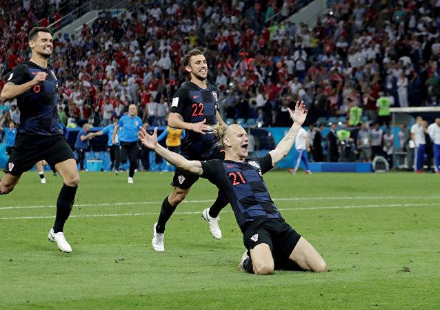 المنتخب الكرواتي في مباراة روسيا