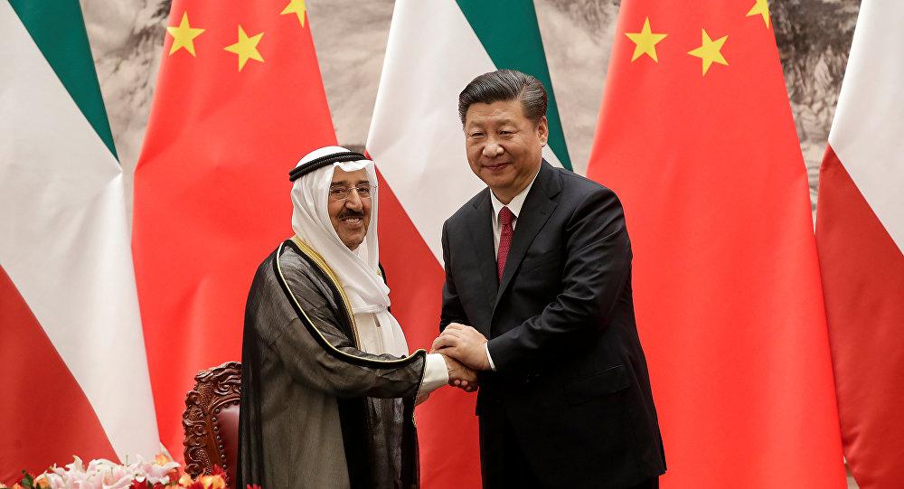 الرئيسين الصيني والكويتي