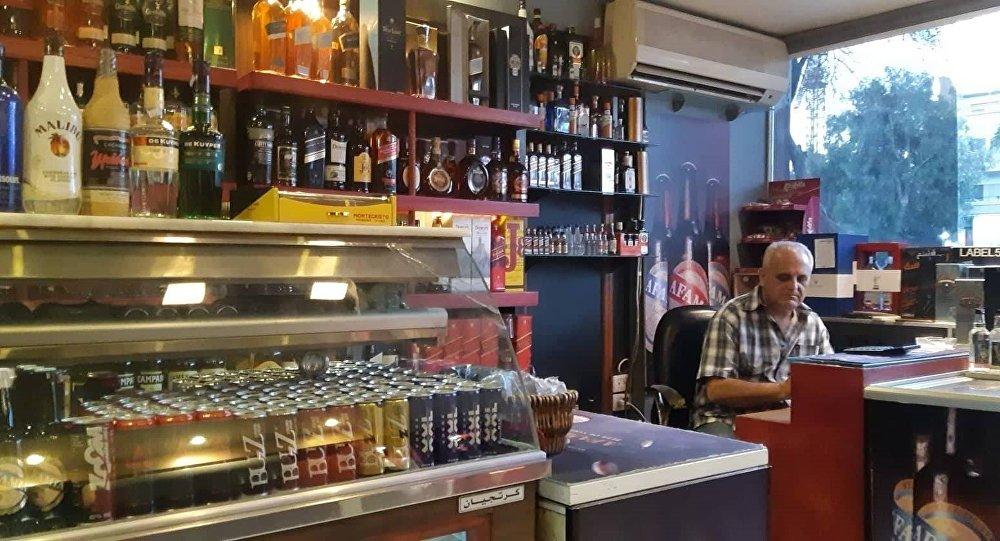 محل لبيع المشروبات الكحولية في العاصمة دمشق