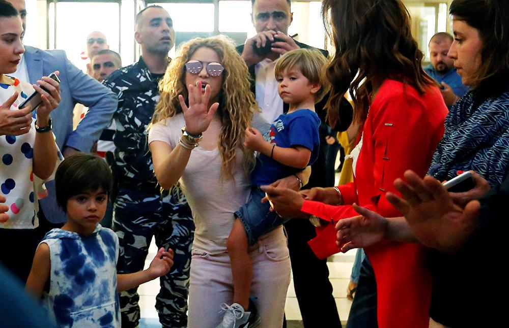 شاكيرا تصل إلى مطار بيروت الدولي، 12 يوليو/تموز 2018