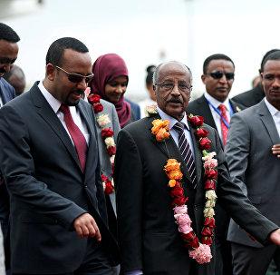 رئيس إريتريا أسياس أفورقي ورئيس إثيوبيا أبي أحمد