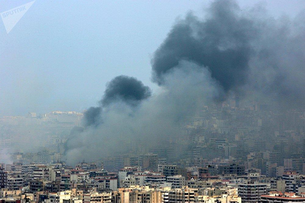 قصف إسرائيلي على بيروت خلال حرب تموز 2006