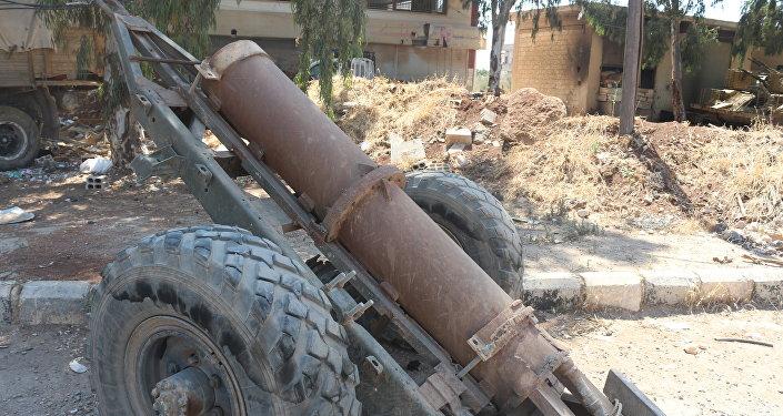 مدفع جهنم بين الأسلحة التي سلمها إرهابيو النصرة في سياق اتفاق ترحيلهم إلى إدلب