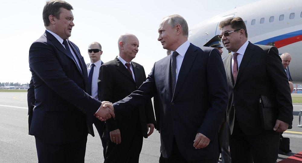 وصول الرئيس بوتين إلى هلنسكي