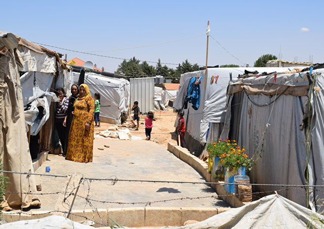 مخيم للنازحين السوريين في منطقة العقيدية في لبنان