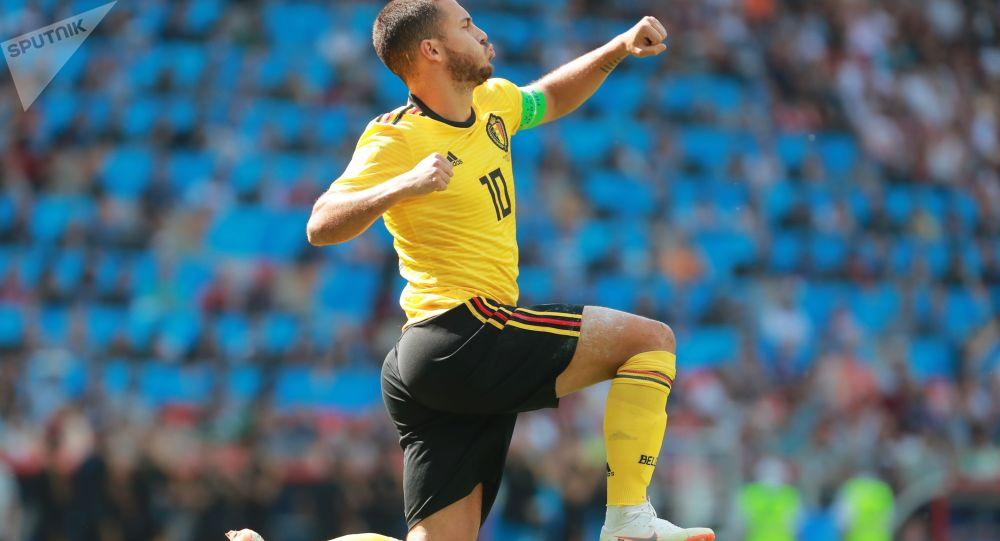 لاعب المنتخب البلجيكي إدين هازارد