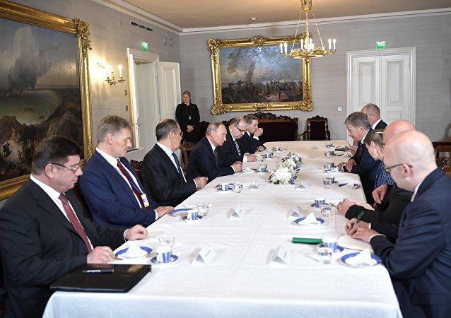 لقاء الرئيسين الروسي فلاديمير بوتين والأمريكي دونالد ترامب في هلسنكي