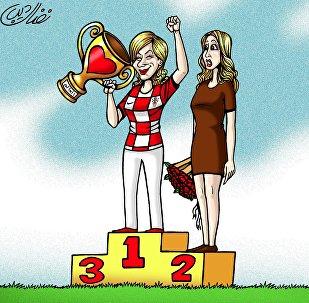رئيسة كرواتيا تأسر قلوب المعجبين في كافة أنحاء العالم