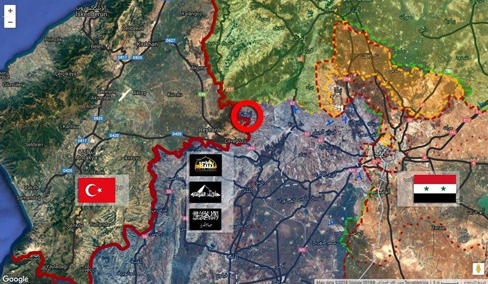 بلدة أطمة في إدلب السورية المحاذية لتركيا