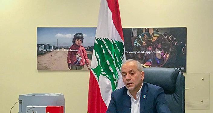 وزير الدولة اللبناني لشؤون النازحين معين المرعبي