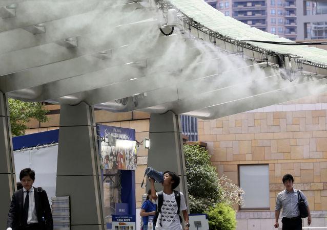 ارتفاع غير مسبق لدرجات الحرارة في طوكيو، اليابان 13 يوليو/ تموز 2018