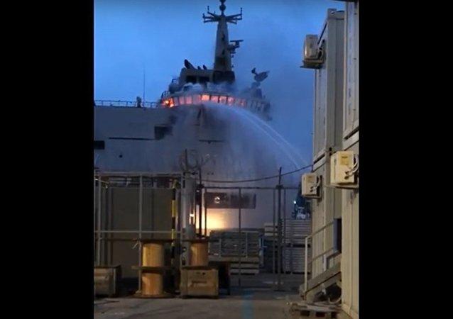 LSS Vulcano A5335. Big fire on board