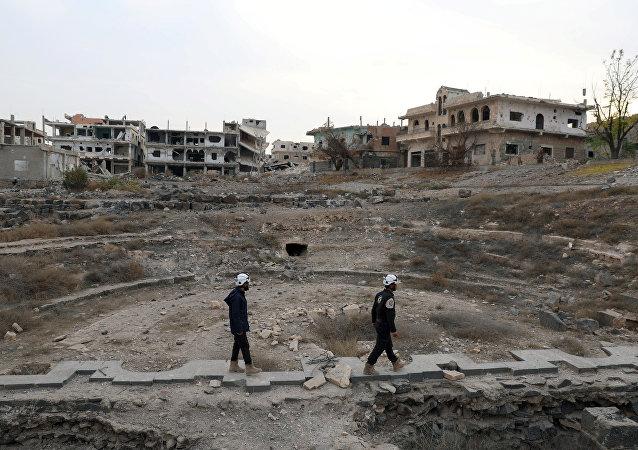 الخوذ البيضاء في درعا