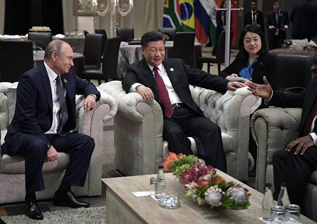 بوتين في اجتماع قمة قادة دول البريكس في جوهانسبورغ