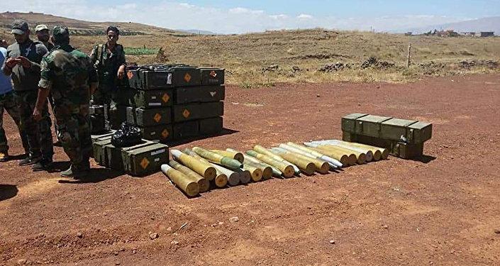 ذخائر اغتنمها الجيش السوري بعد تقدمه في الجنوب
