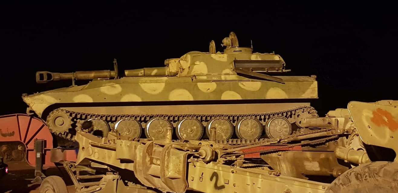 مدرعة سلمتها الفصائل المسلحة في الجنوب السوري بعد اتفاق تسوية
