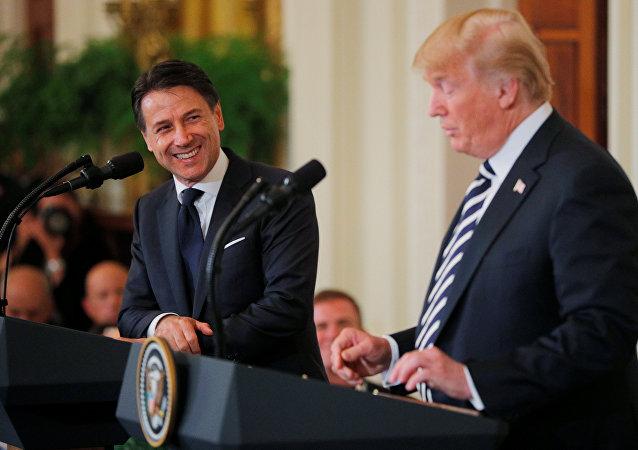 ترامب ورئيس الوزراء الإيطالي