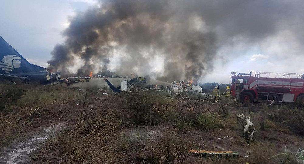 سقوط طائرة في المكسيك