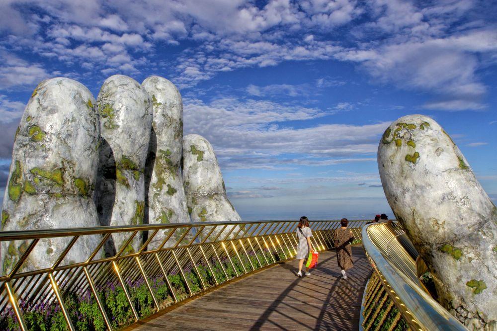 الجسر الذهبي في مدينة با نا هيلز، فيتنام، 31 يوليو/ تموز 2018