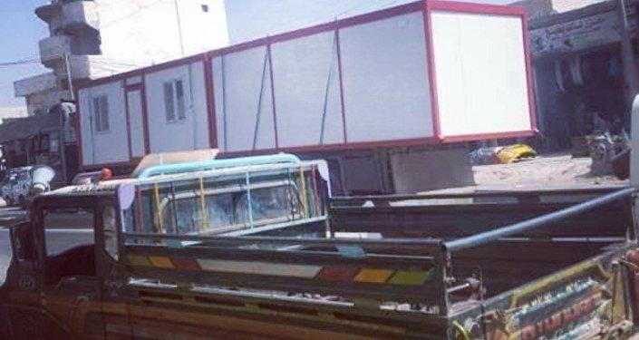 سيارات تركية تنقل كلور وكرفنات إلى مناطق المسلحين