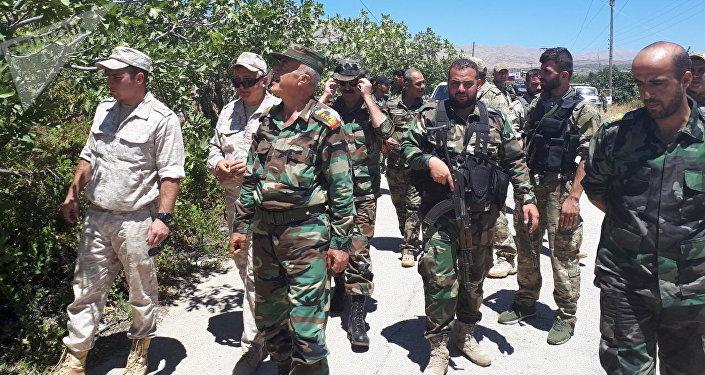انتشار الجيش السوري في قرى شمال محافظة القنيطرة، عائدا إلى مواقعه التي كان ينتشر فيها ضمن منطقة فض الاشتباك في الجولان عام 2011
