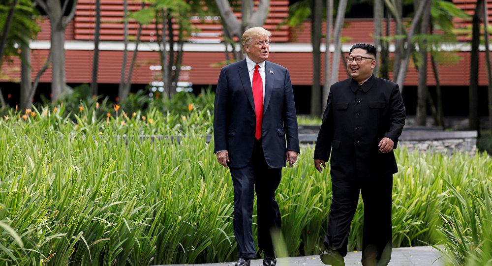 زعيم كوريا الشمالية، كيم جونغ أون، الرئيس الأمريكي، دونالد ترامب