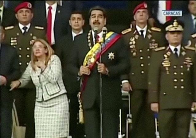 لحظة محاولة اغتيال رئيس فنزويلا