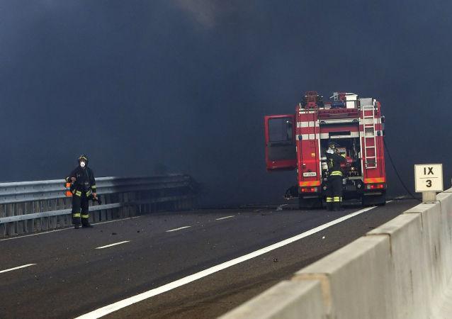 سلسلة انفجارات في مدينة بولونيا، إيطاليا 6 أغسطس/ آب 2018