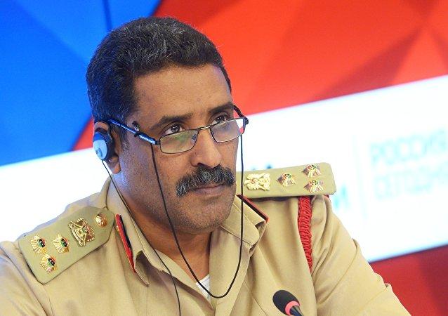 المتحدث الرسمي باسم القيادة العامة للجيش الليبي العميد أحمد المسماري