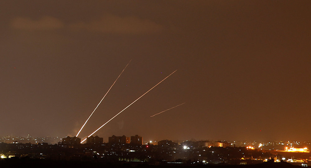 إطلاق صواريخ من قطاع غزة، 8 أغسطس/ آب 2018