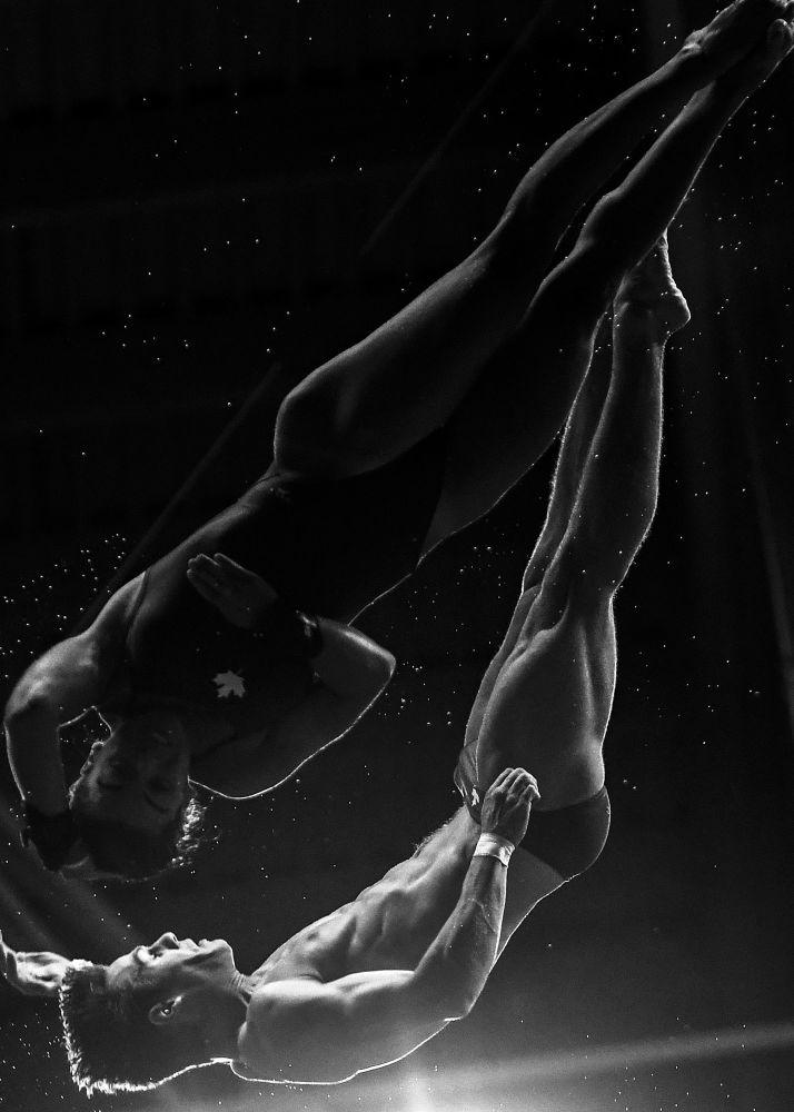 صورة بعنوان قفزة، للمصور ماكسيم بوغودفيد، الحاصلة على المركز الثاني في فئة الرياضة، في مسابقة التصوير لشركة Nikon