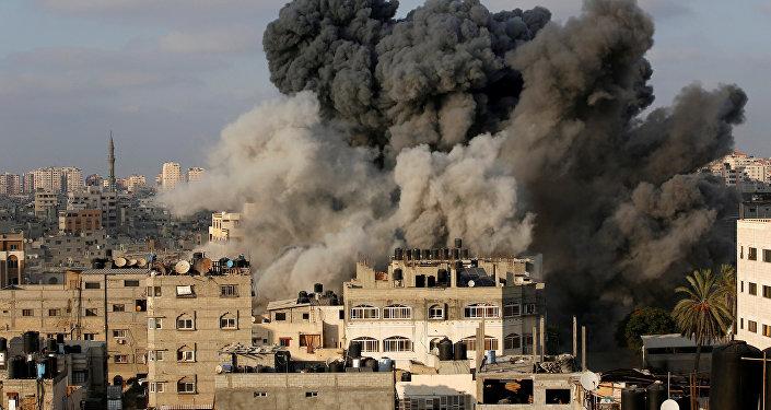 غارة على قطاع غزة