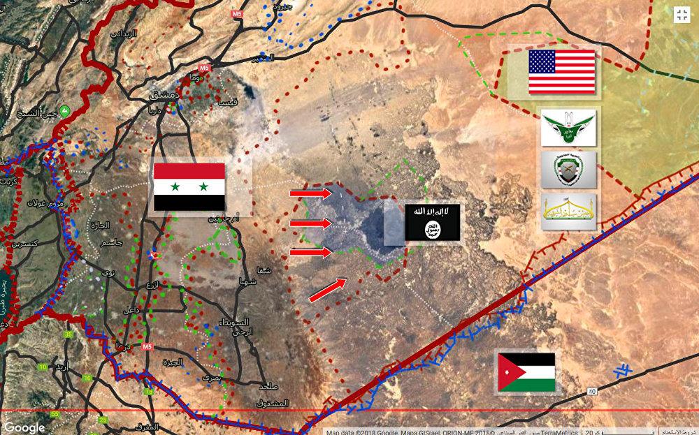 الجيش السوري يقلص جيب داعش شرق السويداء ويقضي على العشرات من إرهابييه
