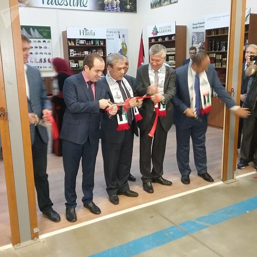 افتتاح أول جناح تجاري فلسطيني دائم في ضواحي موسكو - بحضور سفير دولة فلسطين إلى روسيا عبد الحفيظ نوفل