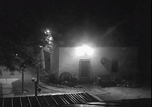 كاميرات المراقبة توثق شبحا راكضا