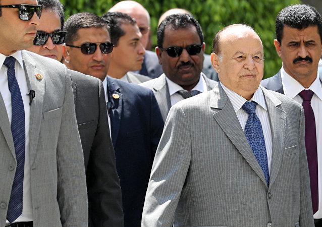 الرئيس اليمني عبدربه منصور هادي في القاهرة، مصر 14 أغسطس/ آب 2018