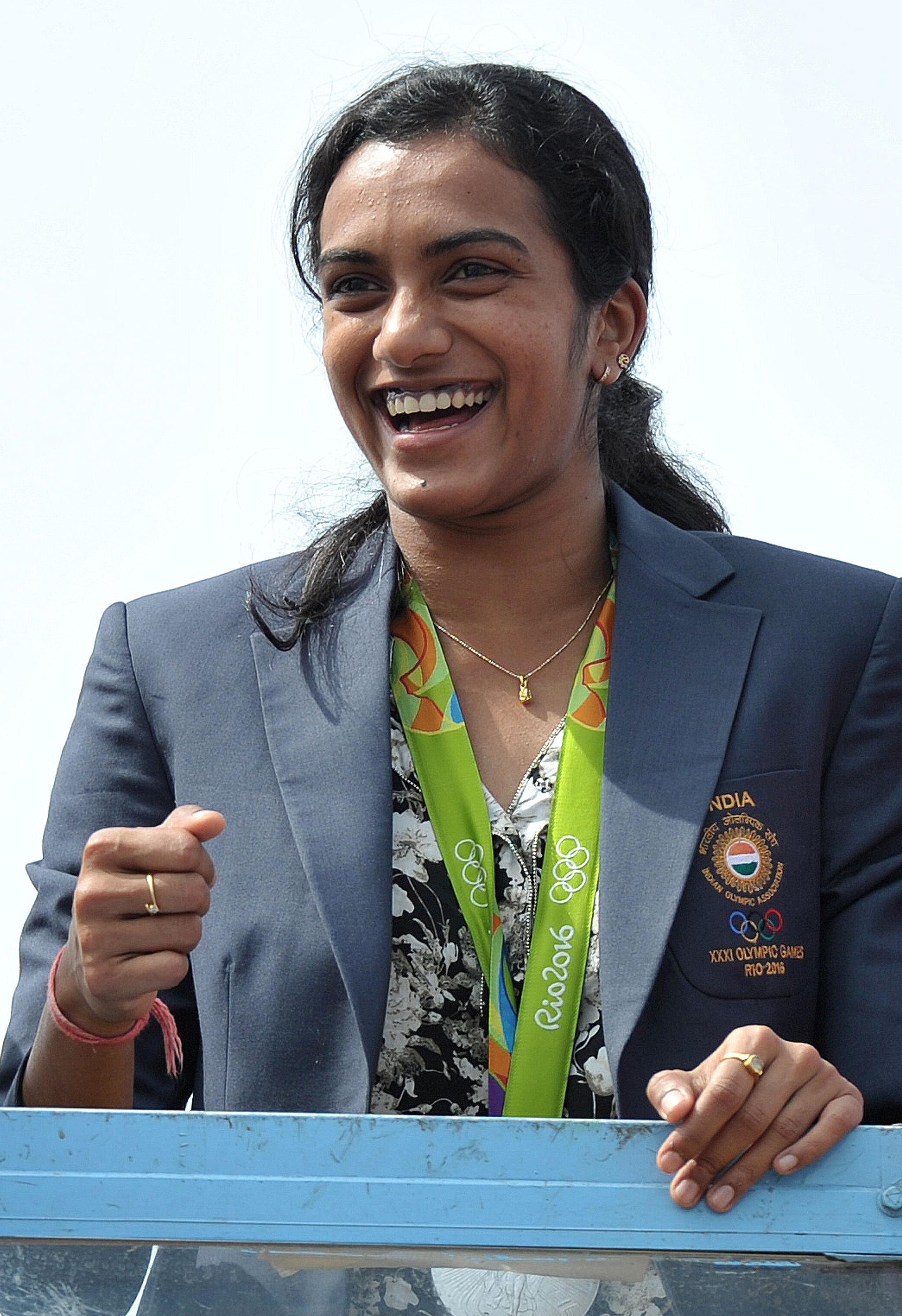 لاعبة الريشة الطائرة الهندية سيندهي