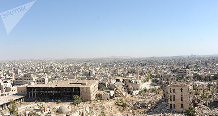 مشهد يطل على المدينة من على قلعة حلب