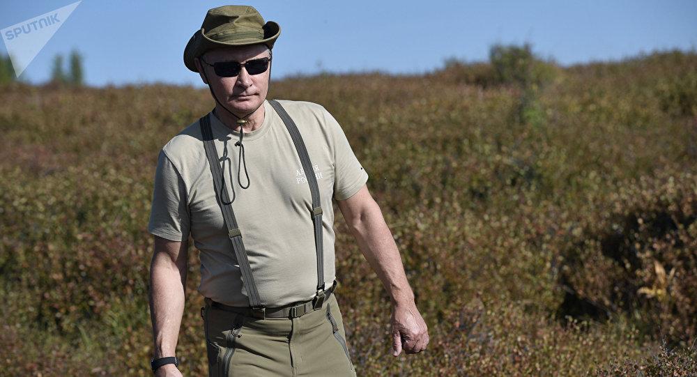 الرئيس الروسي فلاديمير بوتين خلال عطلته في جمهورةي تيفا، روسيا 26 أغسطس/ آب 2018