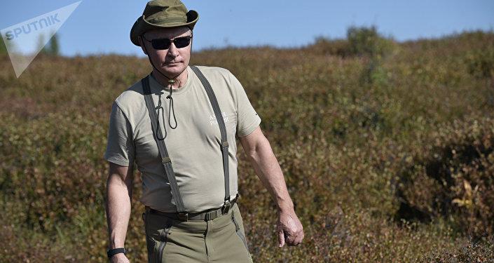 الرئيس الروسي فلاديمير بوتين خلال عطلته في جمهورية تيفا، روسيا 26 أغسطس/ آب 2018