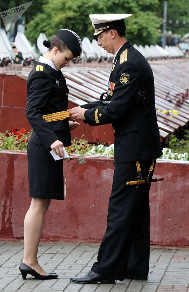 تخرج الفوج الثالث والسبعين من ضباط المحيط الهادئ العليا التي سميت باسم الأميرال ماكاروف