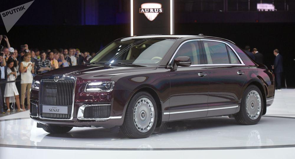 السيارات الروسية أوروس سينتا (Aurus Senat) في معرض موسكو الدولي للسيارات 2018